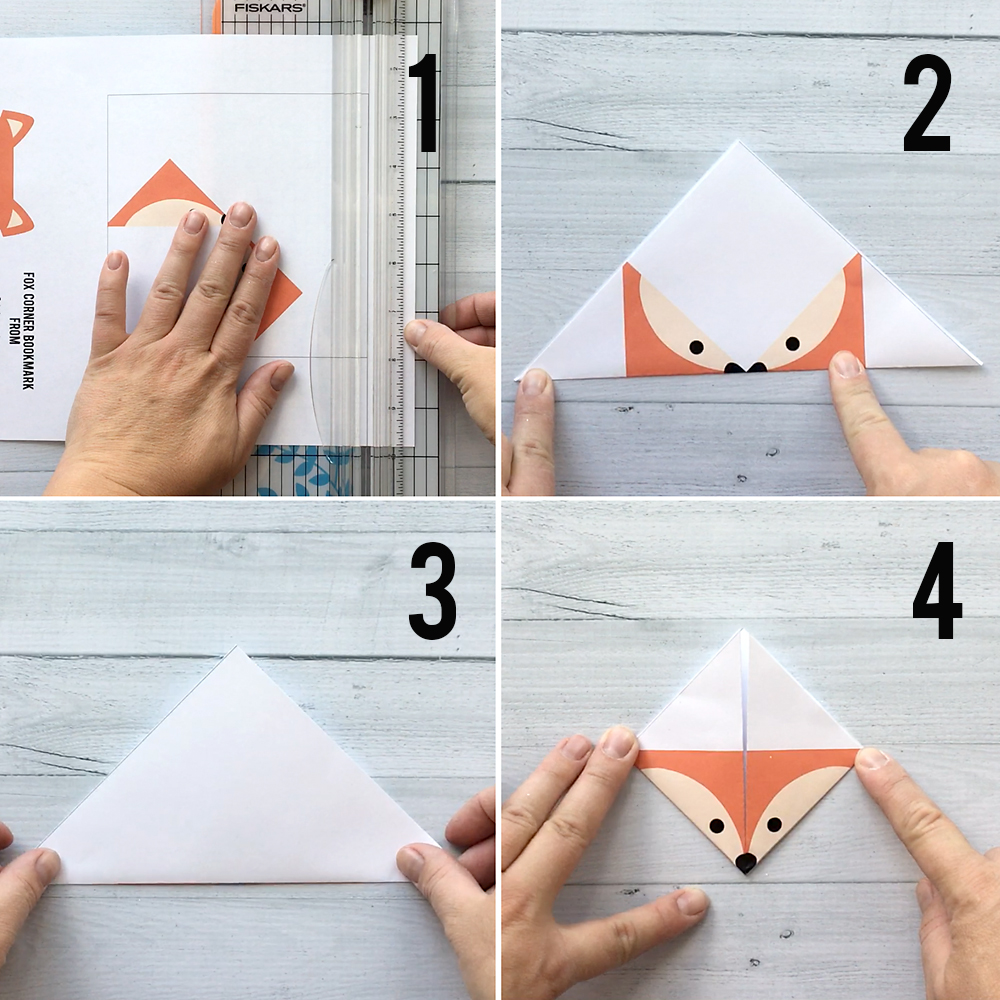 image regarding Corner Bookmarks Printable identify Do-it-yourself woodland pets origami bookmarks print + fold - Its