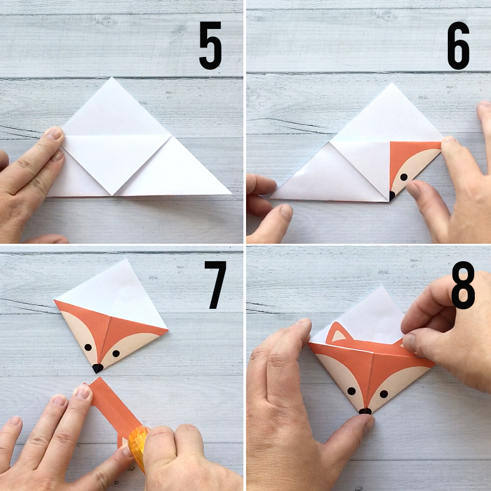 Printable christmas origami bookmarks it 39 s always autumn for Diy paper origami
