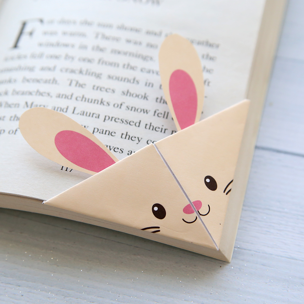 Diy woodland animals origami bookmarks print fold it for Book marker template