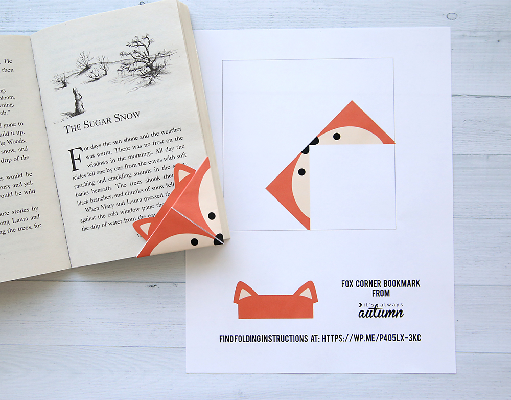 Diy woodland animals origami bookmarks print fold it for Diy paper origami