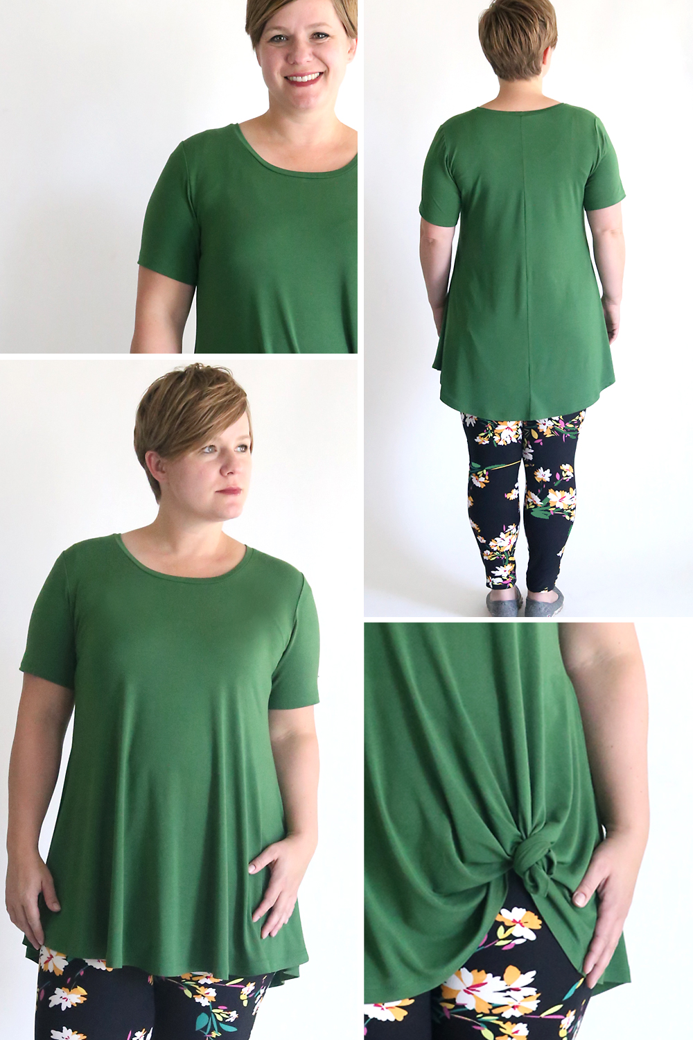fb93b7ac How to sew a swing tunic to wear with leggings. This free pattern is a