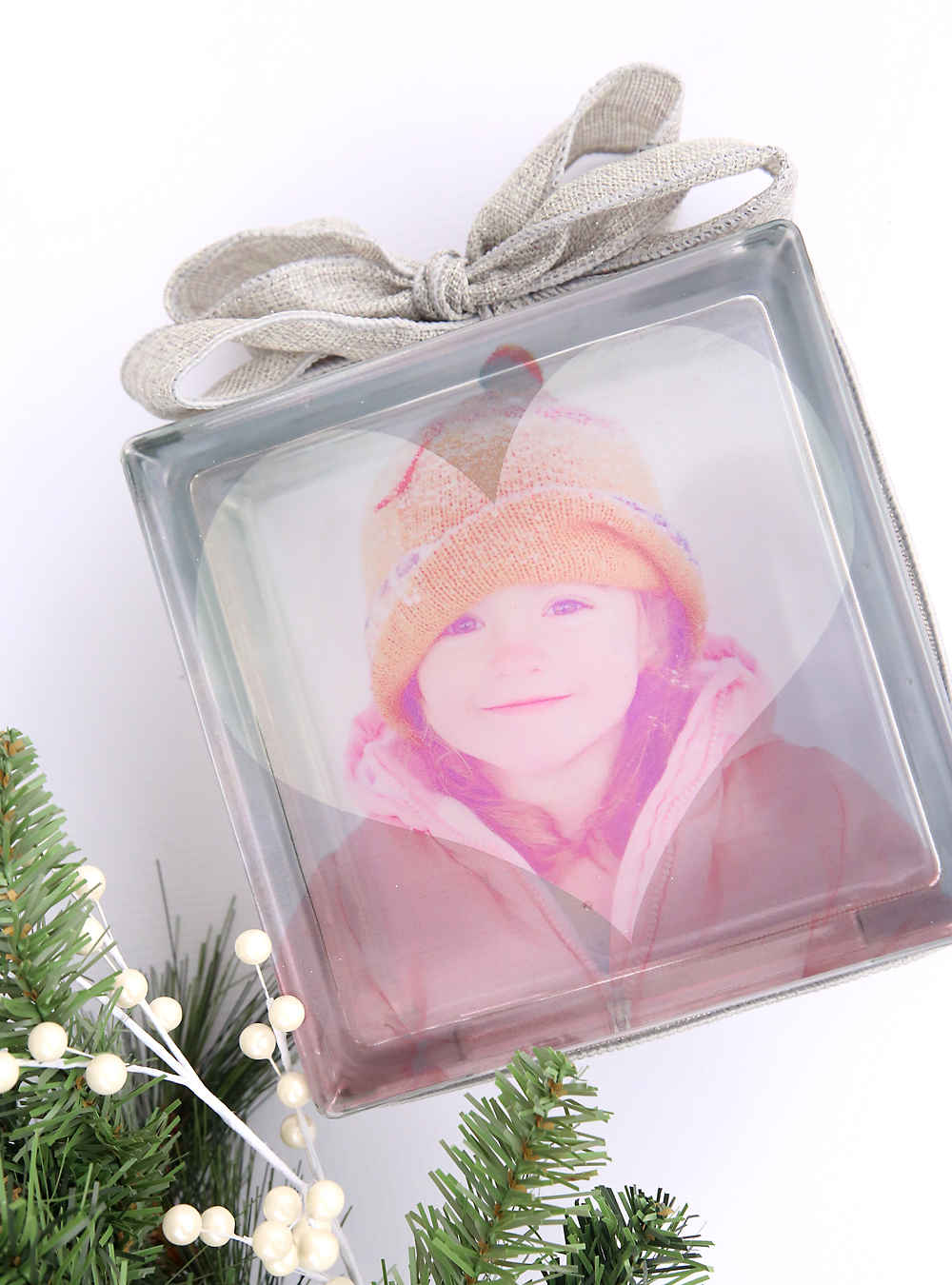 Super easy way to make your own glass pictures! Glass photo block DIY tutorial.