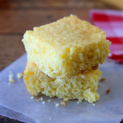 Quick + easy Jiffy cornbread recipe for moist, sweet cornbread