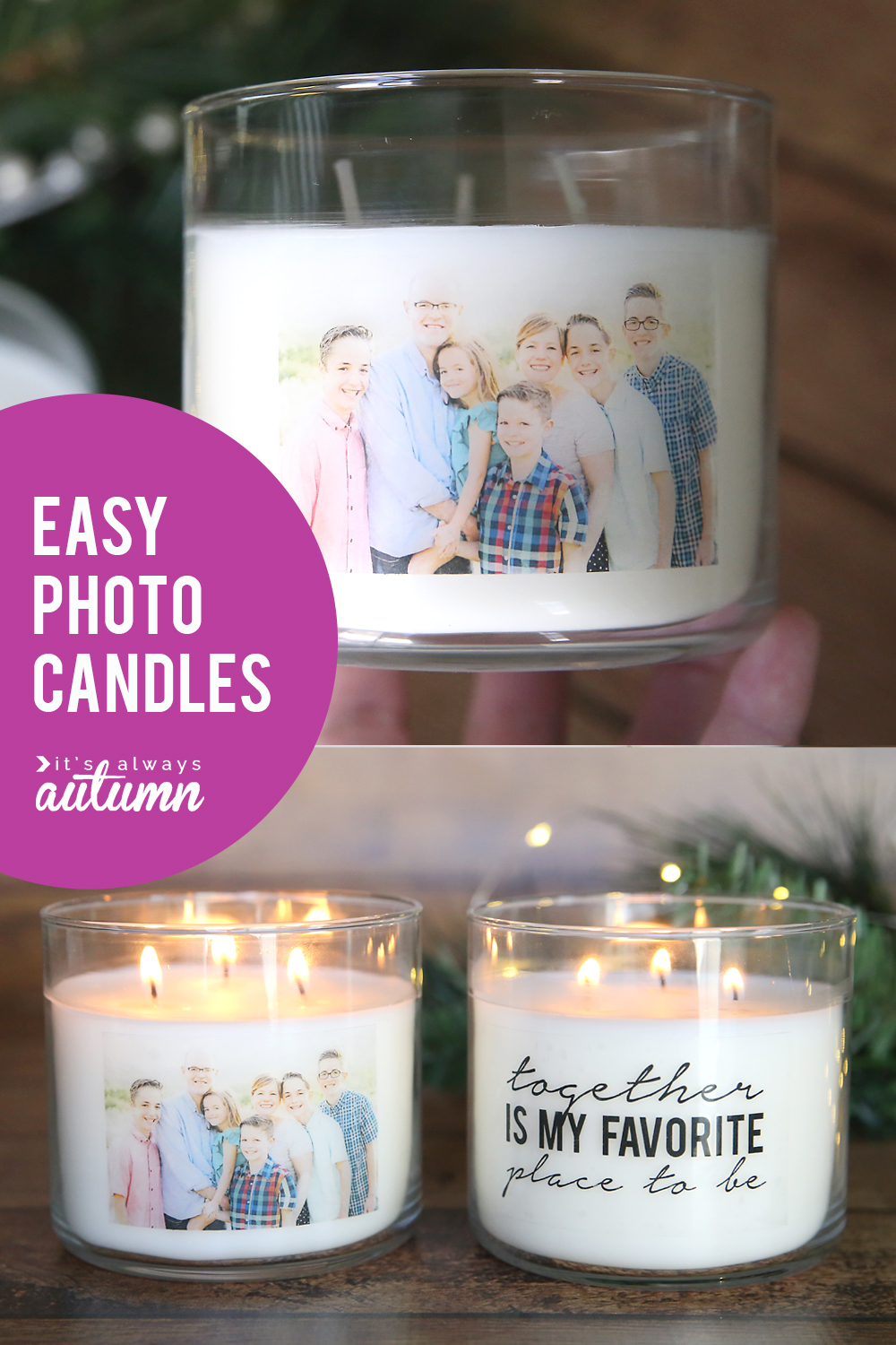 Gorgeous personalized photo candles!