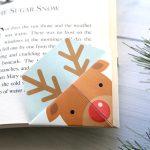 Printable Christmas origami bookmarks