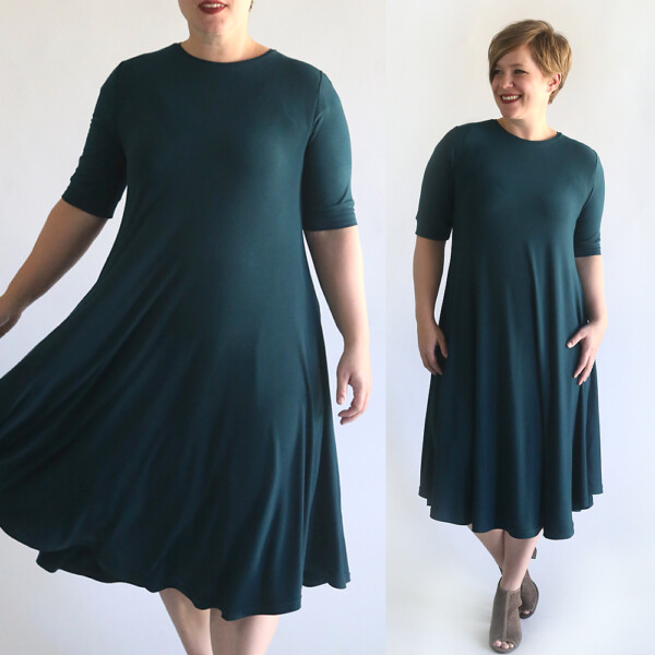 Easy swing dress sewing pattern and tutorial. How to sew a swing dress.