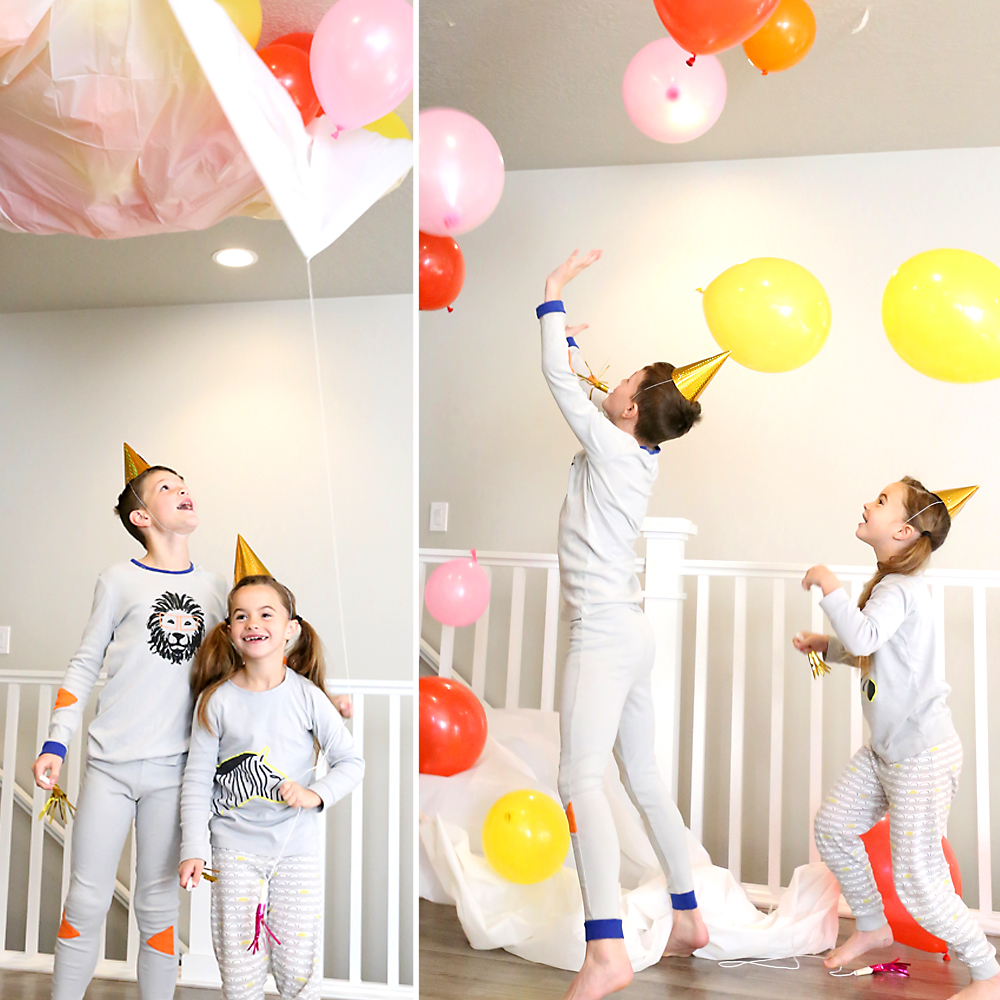 DIY balloon drop for New Year\'s Eve - It\'s Always Autumn