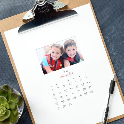 Make your own personalized calendar {free printable 2019 photo calendar)