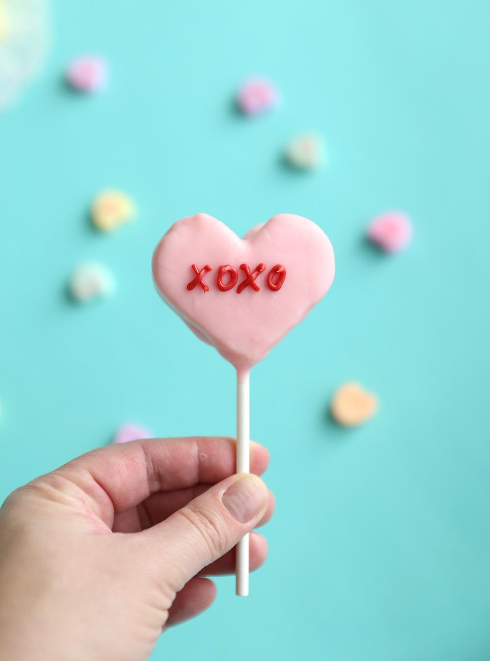 Conversation Heart Cake Pops For Valentine S Day It S Always Autumn