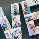Photo collage letters {fun way to decorate with pictures}