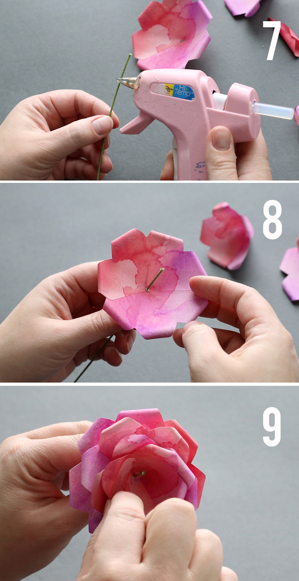 picture regarding Roses Templates Printable called Produce stunning paper roses with this no cost paper rose template