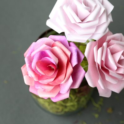 Make gorgeous paper roses with this free paper rose template