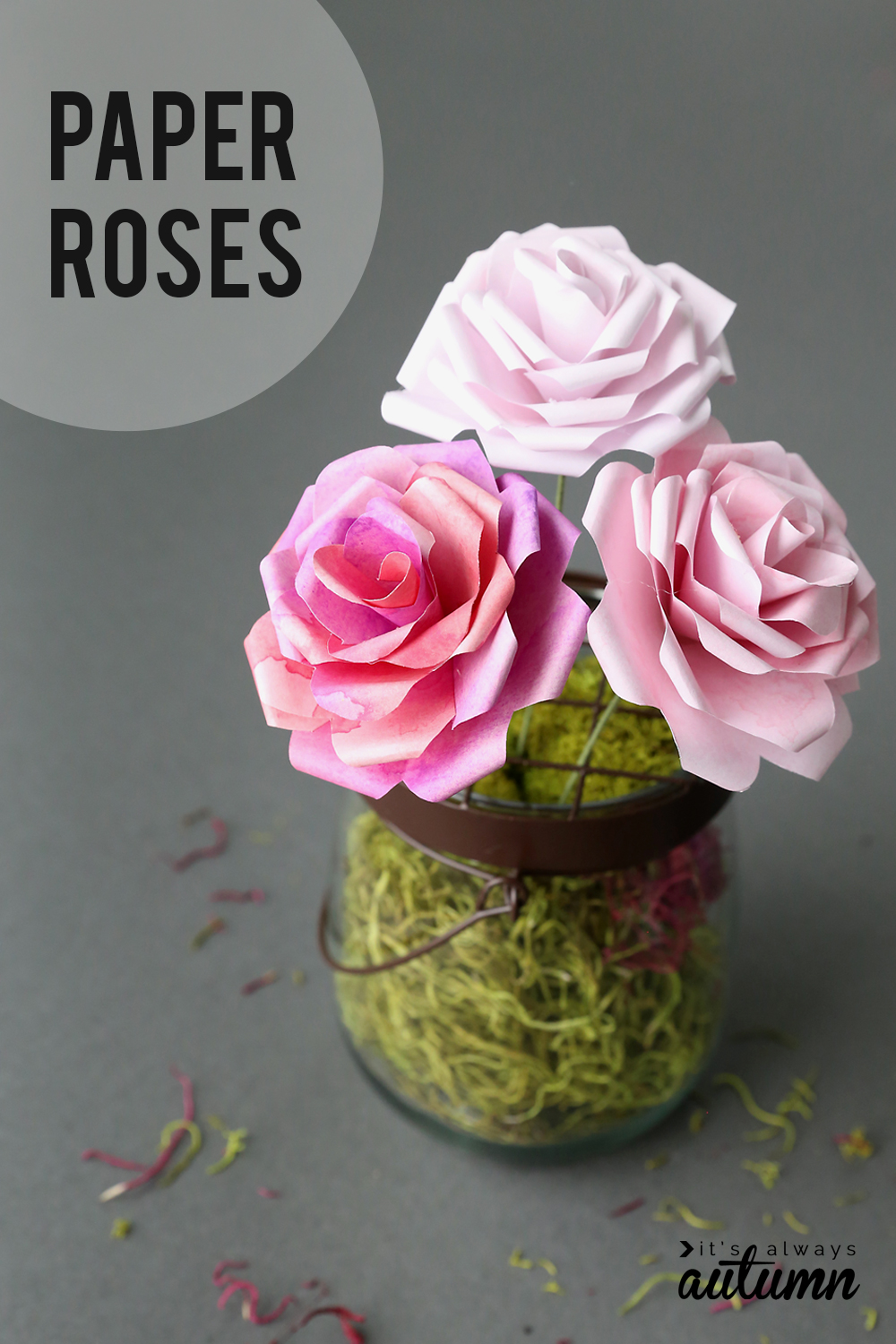 graphic about Roses Templates Printable referred to as Create stunning paper roses with this no cost paper rose template