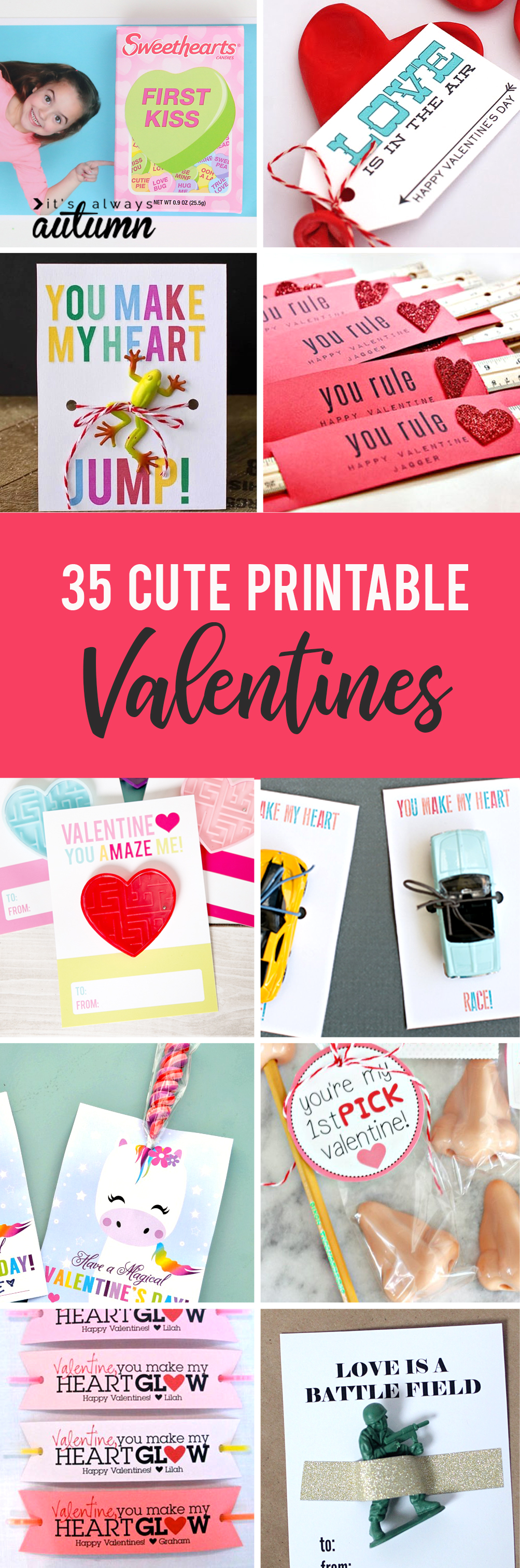 Adorable DIY Valentineu0027s Cards! Free Printable Valentines Make It Easy To  Get Classroom Cards Ready