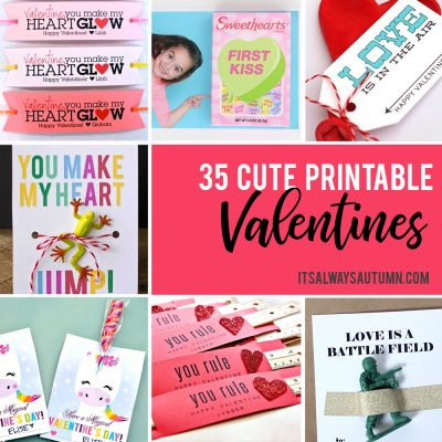 35 adorable DIY Valentine's cards to print at home for your kids