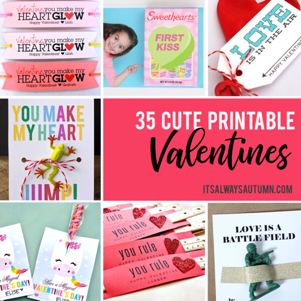 Collage photo of different DIY Valentine's Day cards
