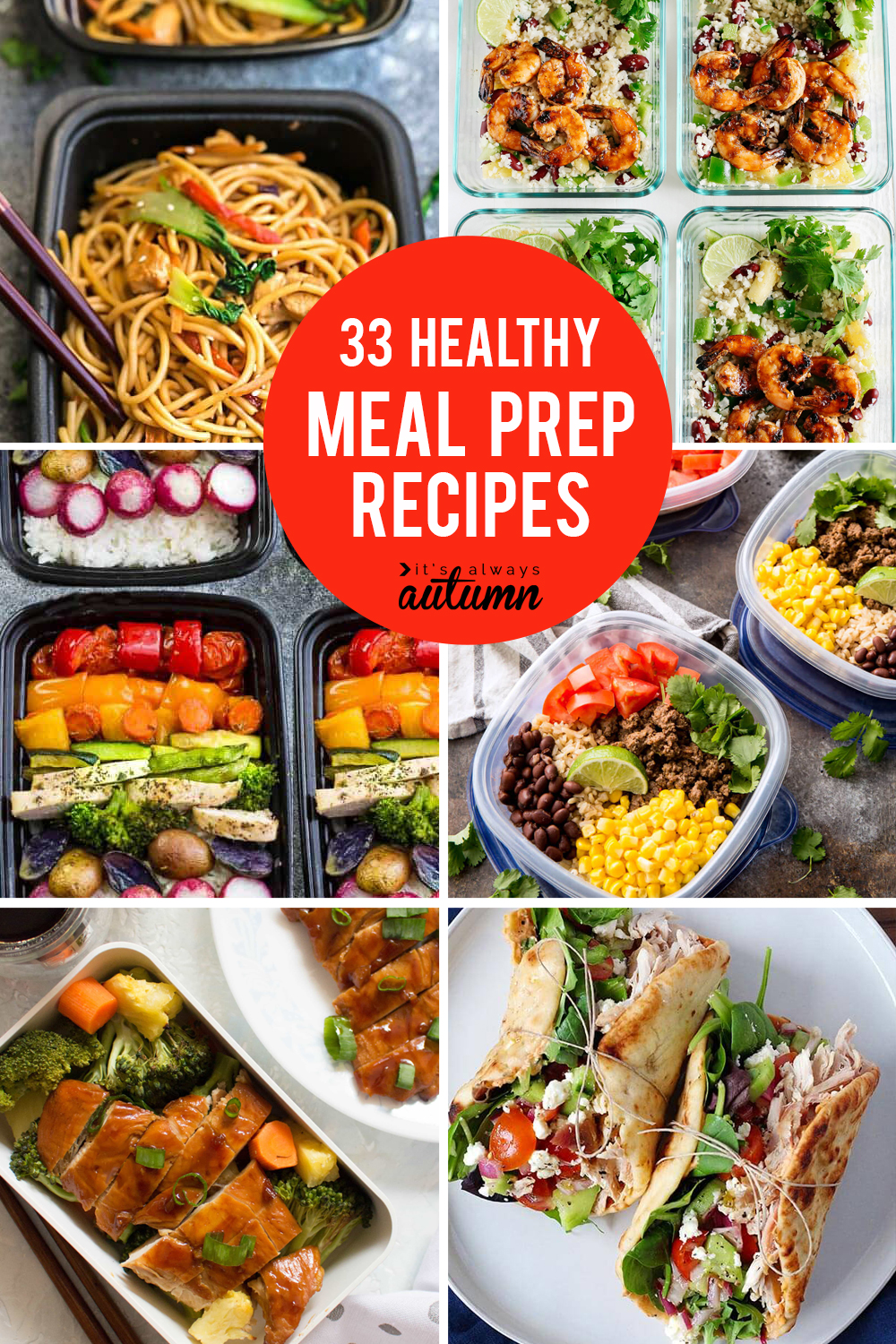 33 delicious meal prep recipes for healthy lunches that taste great tons of healthy meal prep recipes click through for easy recipes you can make ahead forumfinder Images