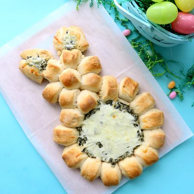 Easter bunny spinach dip {easy Easter appetizer}