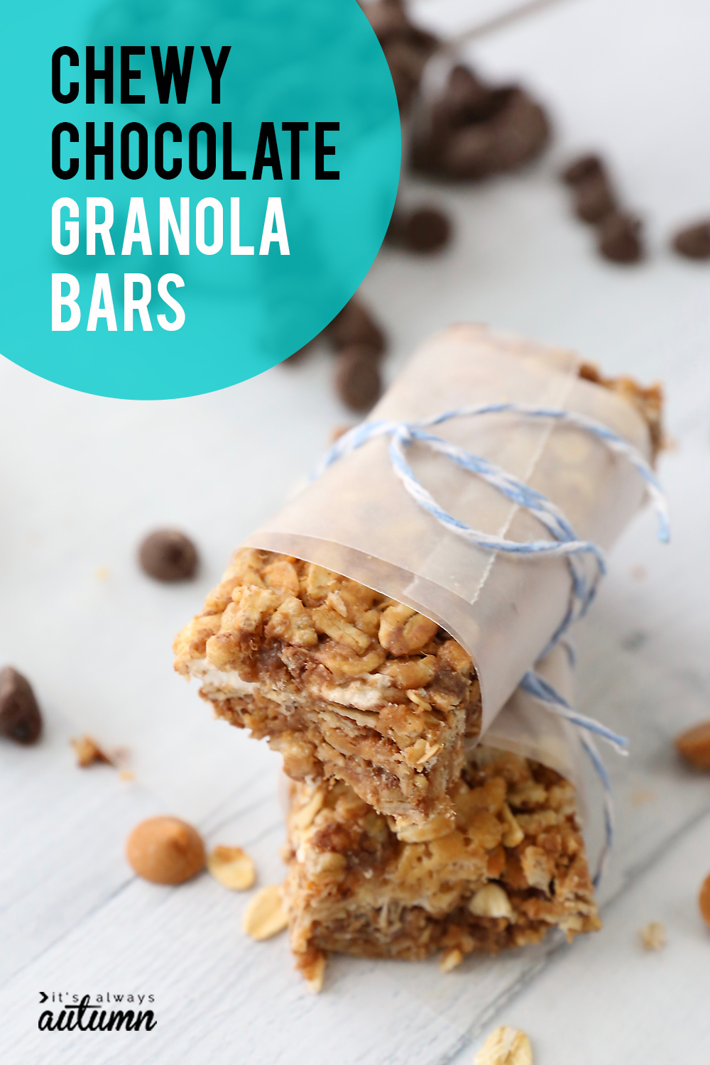 Homemade Chewy Chocolate Granola Bars Are Amazing! An Easy Snack Recipe You  Can Put Together