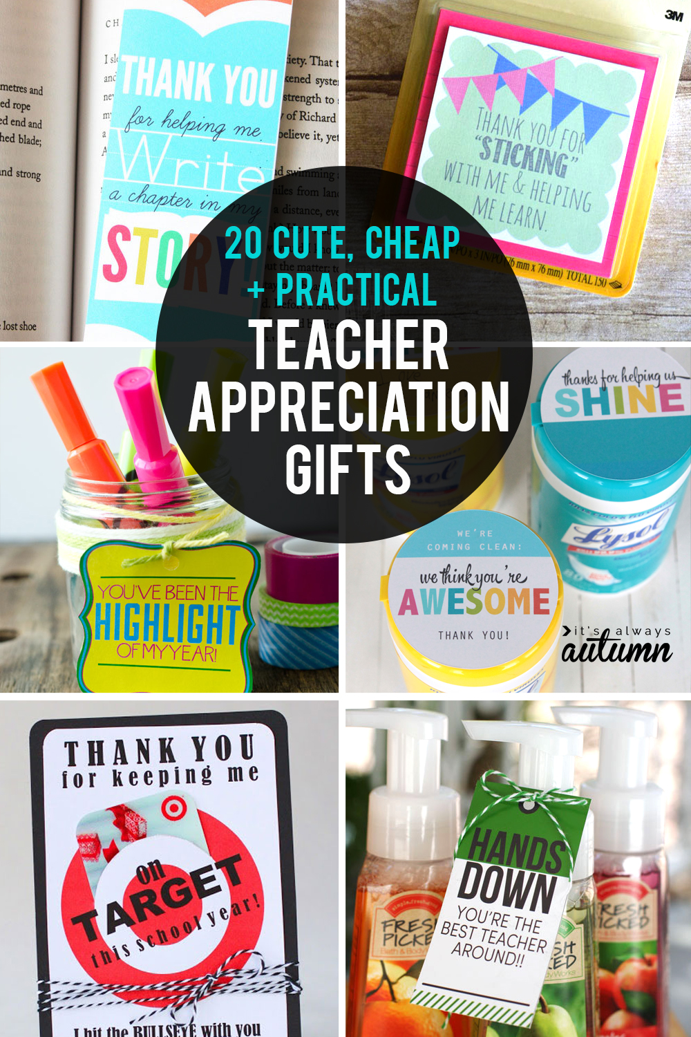 Quick Classroom Ideas ~ Cheap easy cute teacher appreciation gifts it s
