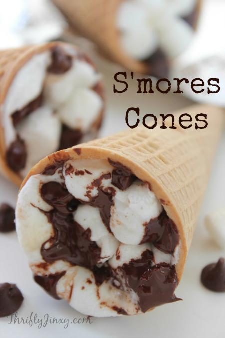 Campfire cones | 35 best camping food recipes