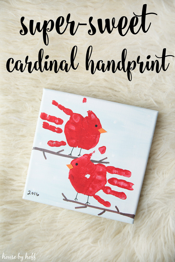 Cute cardinal handprint art! 30 best handpring + footprint projects.