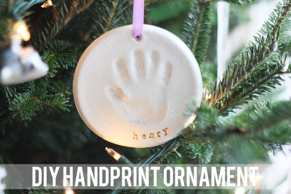 Adorable DIY handprint ornament | 30 best handprint art ideas