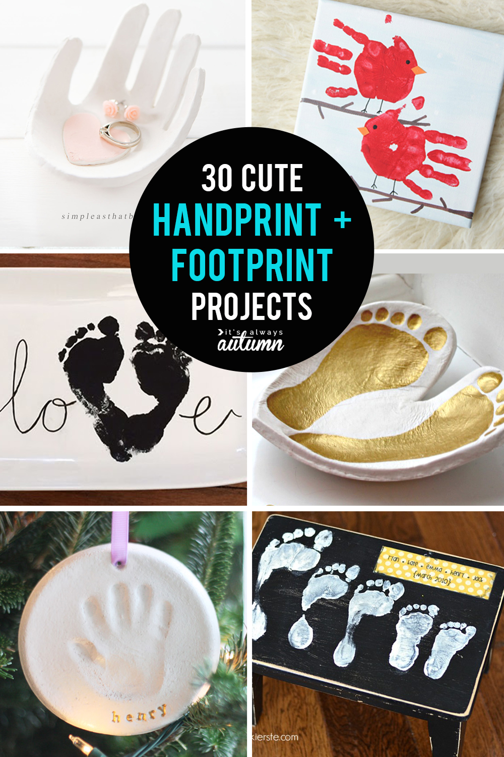 30 best handprint and footprint projects: handprint art, DIY gifts, keepsakes, and more!