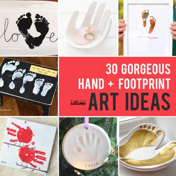 30 best handprint and footprint projects: handprint art, DIY gifts, keepsakes, and more!