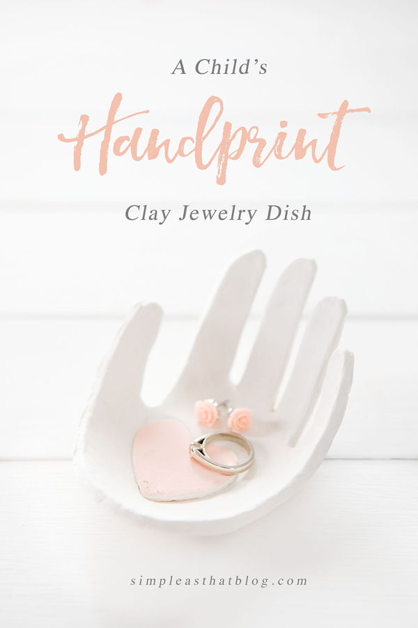 DIY handprint jewelry dish | 30 best handprint art ideas