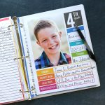 The easiest way to organize school papers {school memory binder printables}