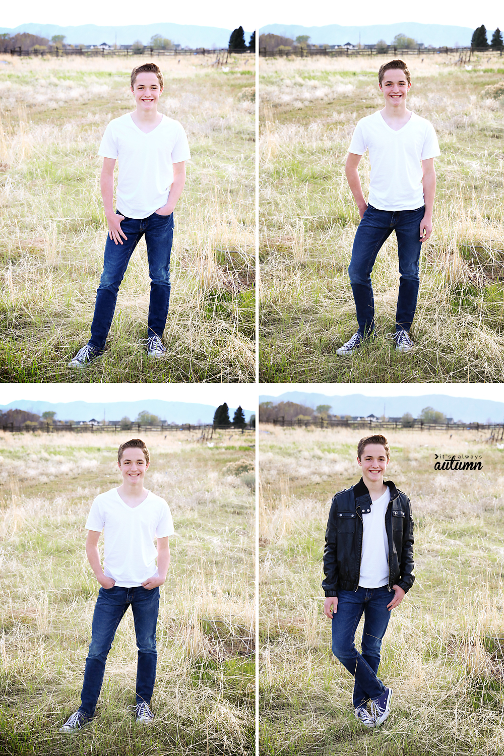 10 go-to photo poses for boys. How to pose boys. Beginning photography tips.