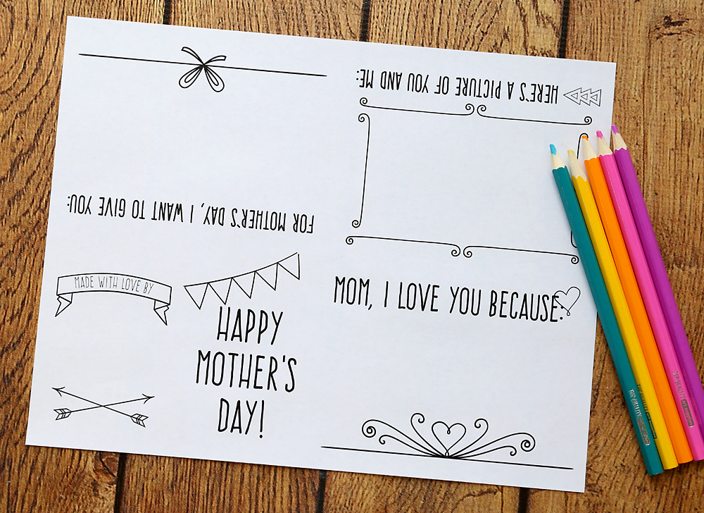 It's just a photo of Amazing Print Out Mother Day Cards