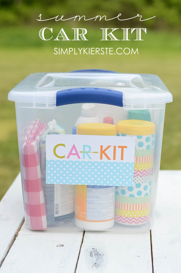 Road trip car kit | Best ideas for road trips with kids