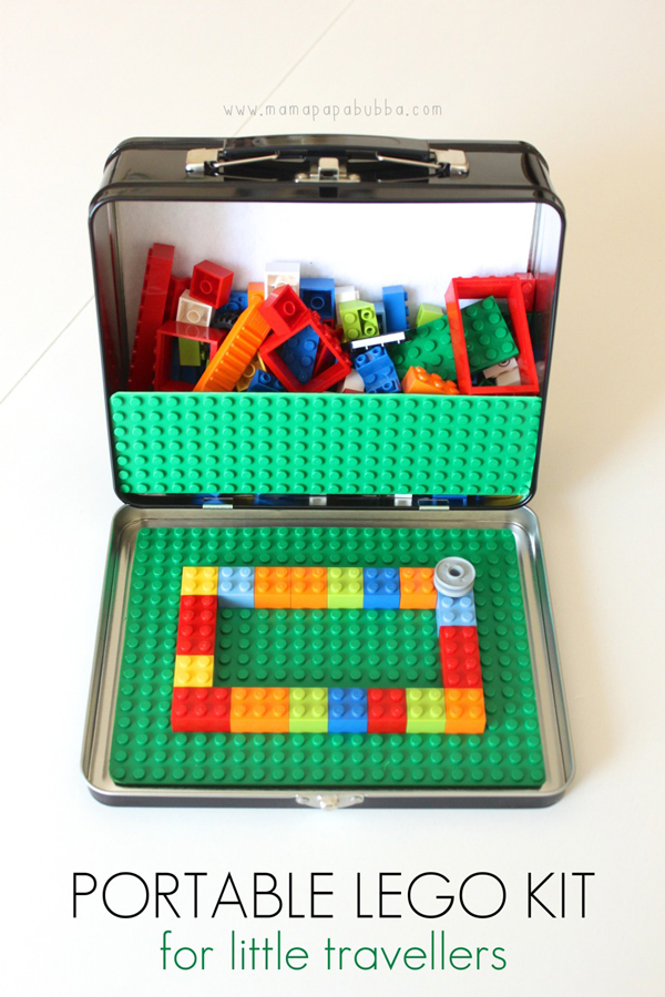 Portable lego kit DIY | Best ideas for road trips with kids