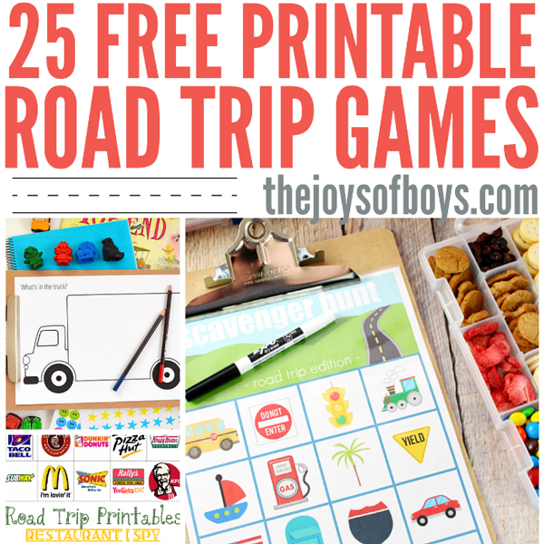 Printable road trip games | Best activities for road trips with kids