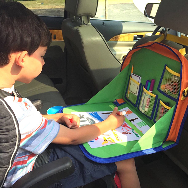 Seat back car organizer | Best ideas for road trips with kids