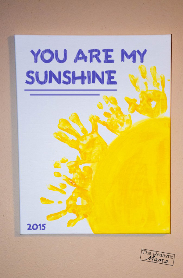 You are my sunshine handprint art | 30 best handprint art ideas