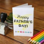 Adorable printable Father's Day card for kids to color