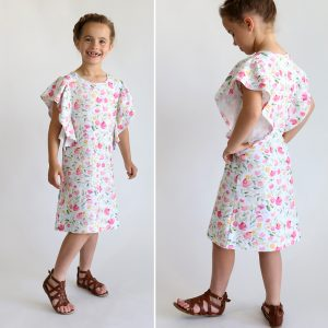 The waterfall dress pattern for girls {easy sewing tutorial}