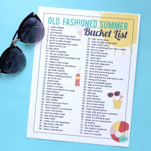 How to give your kids an old fashioned summer {printable bucket list}