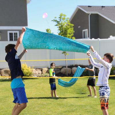 Water balloon volleyball: hilarious summer water game!