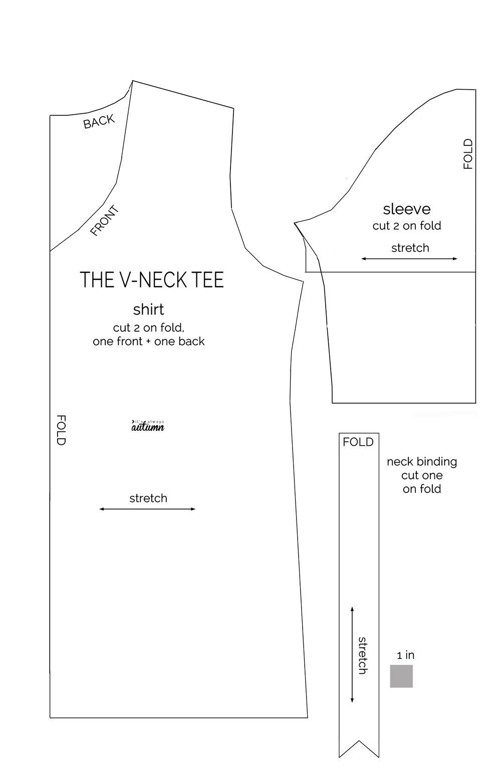 How To Make A V Neck T Shirt It S