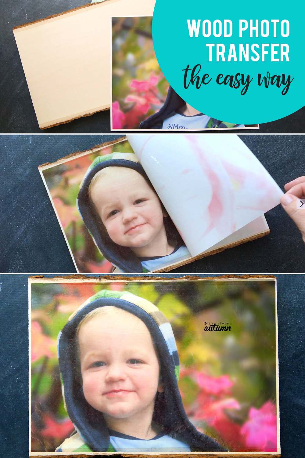 This is the absolutely easiest way to transfer a photo to wood - it only takes 10 minutes!