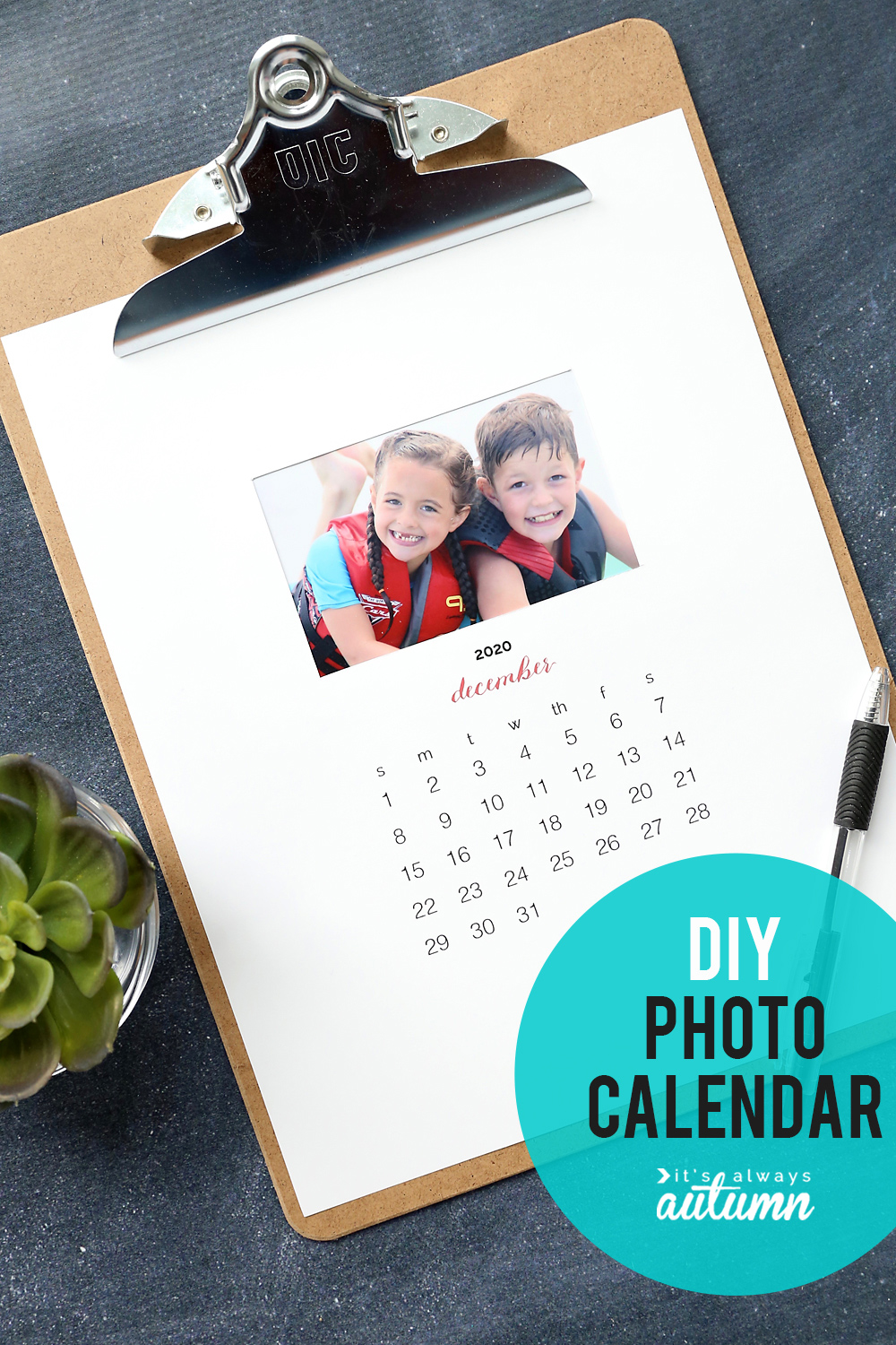 PERSONALISED Desk DESKTOP CALENDAR Calender Gifts for Birthday 2019 Present Xmas