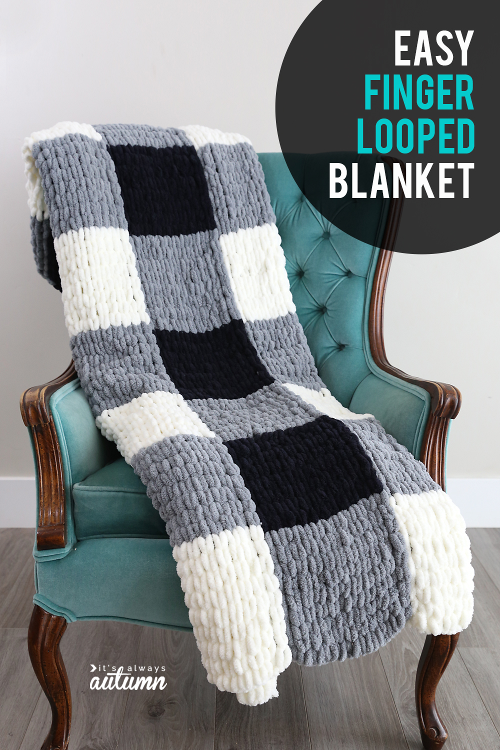 Make A Gorgeous Finger Knit Blanket With Loop Yarn This