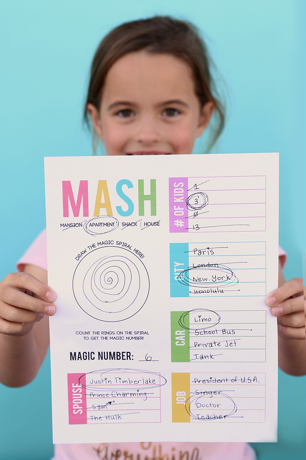 photograph relating to Mash Game Printable known as How in the direction of engage in MASH + a absolutely free printable activity sheet! - Its