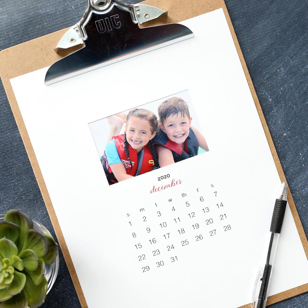Make A Personalized 2020 Photo Calendar {free Templates