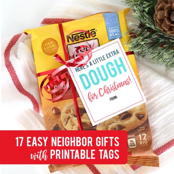 17 easy Christmas neighbor gift ideas with printable tags!