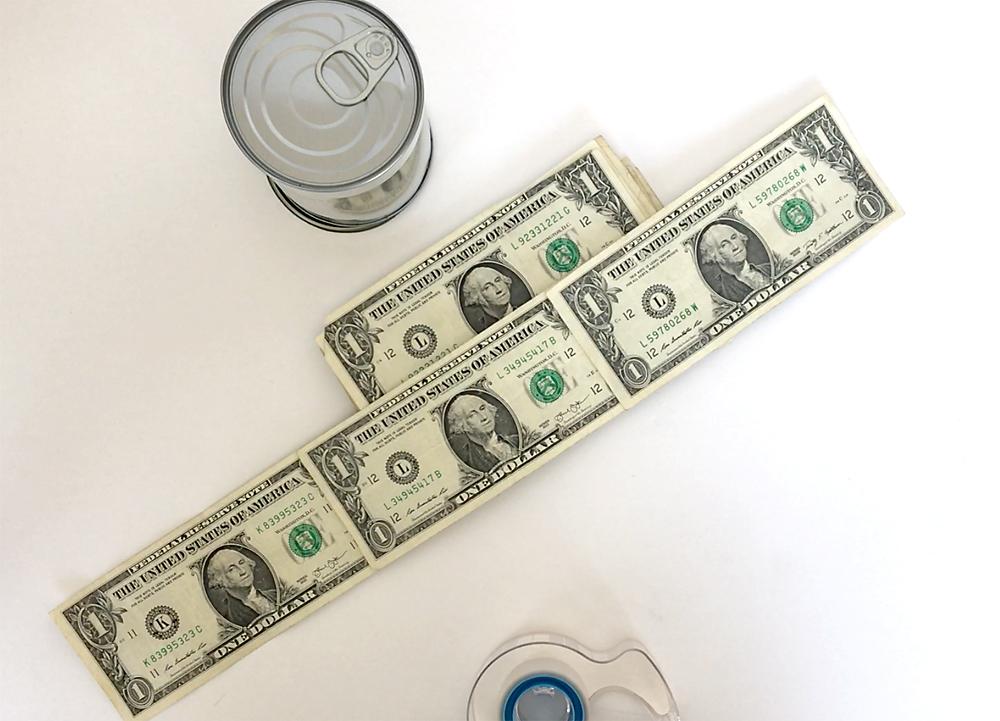 Cash in a can - fun money gift idea.